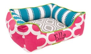 small colorful pet bed
