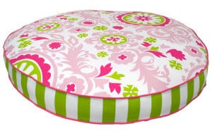 Large Round Dog Bed Pink Chartreuse